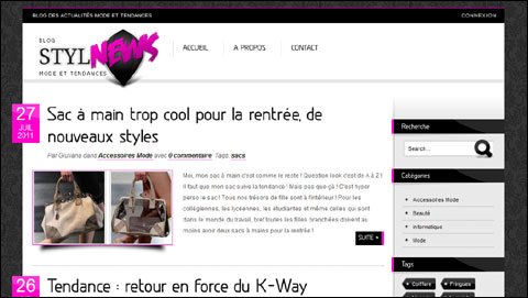Blog mode et tendances